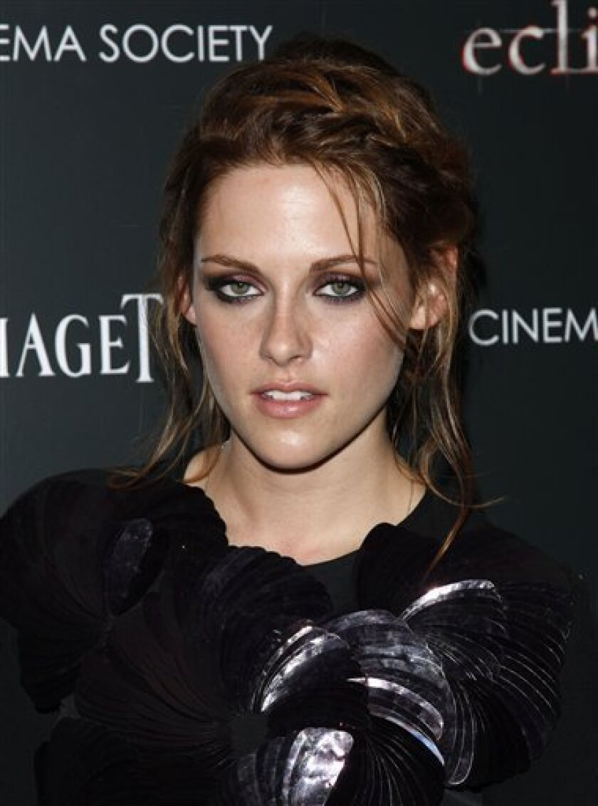 "Actress Kristen Stewart attends the Cinema Society premiere of ""The Twilight Saga: Eclipse"" in New York. on Monday, June 28, 2010. (AP Photo/Peter Kramer)"