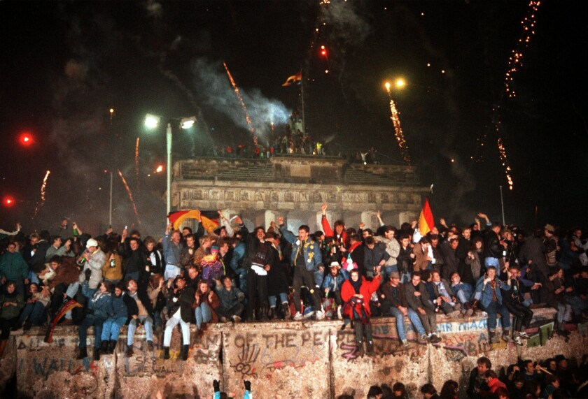 East and West Berlin Celebrating New Year Together
