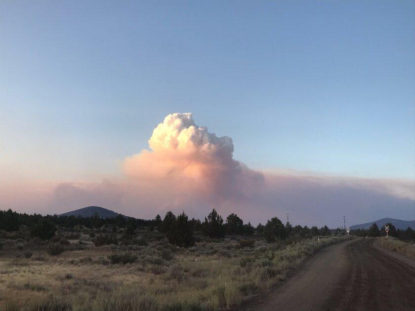 Tucker fire in Modoc County