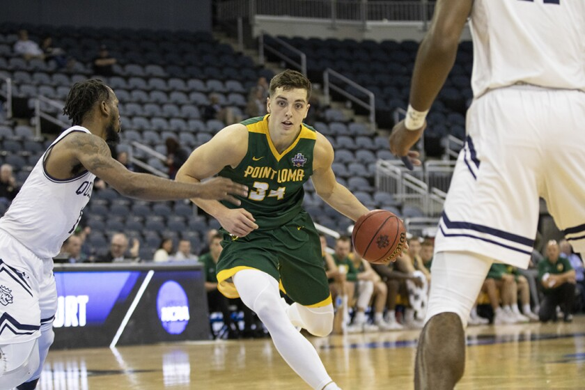 Point Loma Nazarene's Daulton Hommes, the Div. II national player of the year, can turn pro or return to college for his final season.