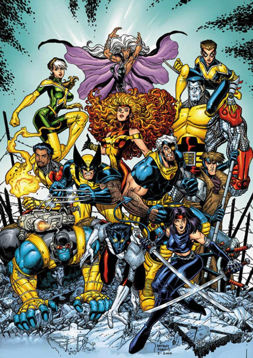 Scene from one of the X Men comic book series.