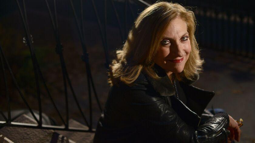 "Director Lesli Linka Glatter on the set of ""Homeland."""