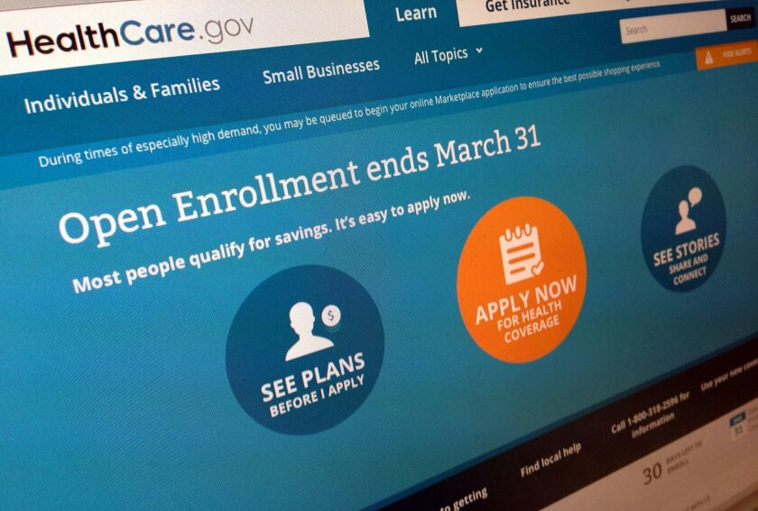"""FILE - This March 1, 2014 file photo shows part of the website for HealthCare.gov, seen in Washington. President Barack Obama's health care law has become a tale of two Americas. States that fully embraced the law's coverage expansion are experiencing a significant drop in the share of their residents who remain uninsured, according to an extensive new poll released Tuesday. States whose leaders still object to """"Obamacare"""" are seeing much less change. The Gallup-Healthways Well-Being Index, cumulatively based on tens of thousands of interviews, found a drop of 4 percentage points in the share of uninsured residents for states that adopted the law's Medicaid expansion and either built or helped run their own online insurance markets. (AP Photo/Jon Elswick, File)"""