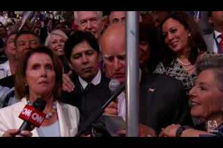 California Gov. Jerry Brown casts California's votes at the Democratic National Convention