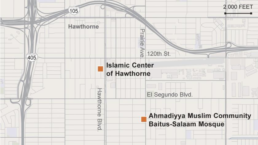 Vandalism at Hawthorne mosques