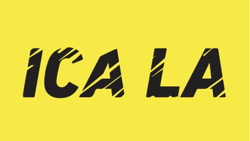 Mark Bradford's logo for the new ICA LA.