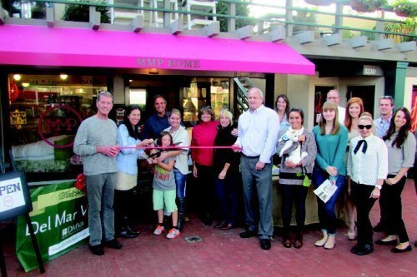 The Oct. 24 ribbon-cutting ceremony, which included Del Mar Mayor Terry Sinnott (left).