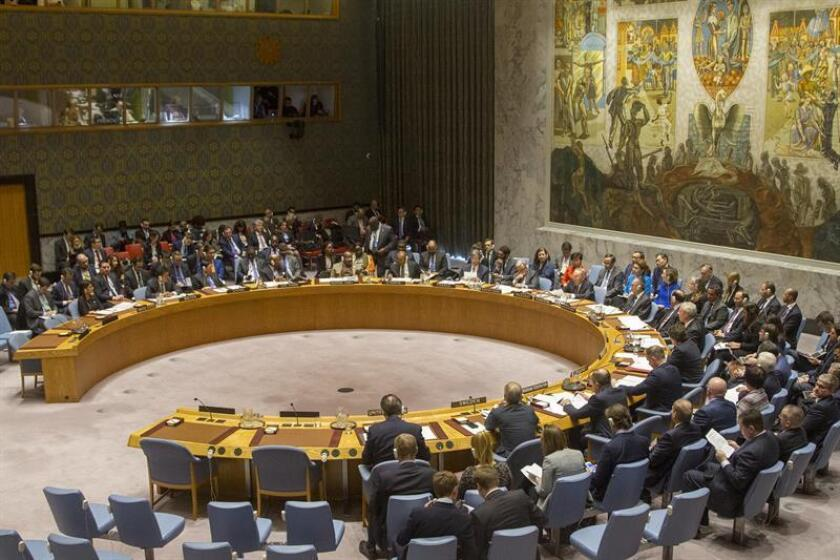 El Consejo de Seguridad de la ONU aprobó hoy una resolución que demanda una tregua de 30 días en toda Siria con el fin de facilitar el suministro de ayuda humanitaria y las evacuaciones de heridos y enfermos. EFE/Archivo