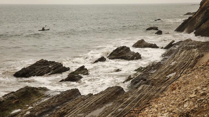 The headland cliffs of Gaviota State Beach near the 14,000-acre Hollister Ranch.