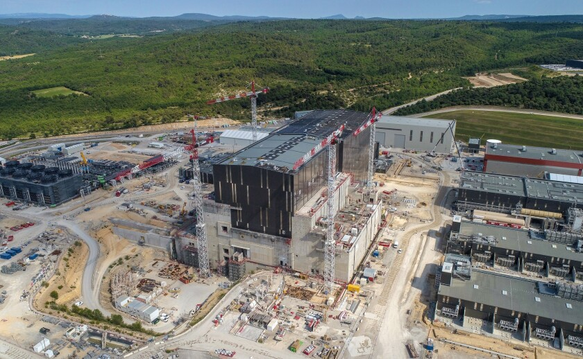 The ITER nuclear fusion project in southern France.