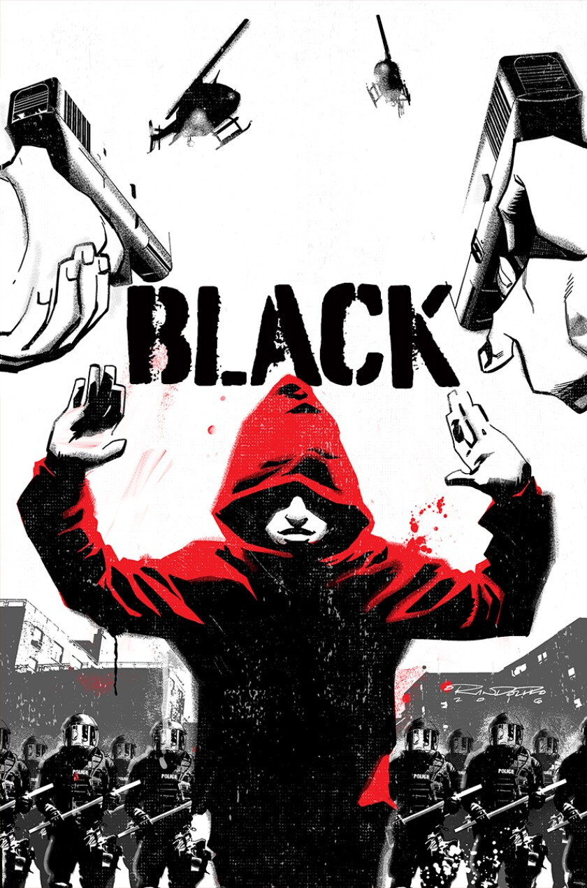 """An image of the comic """"Black"""" by Kwanza Osajyefo and Tim Smith"""