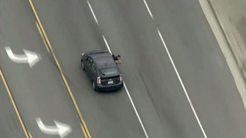 Shooter who fired on police from Prius during wild pursuit dies of gunshot wounds