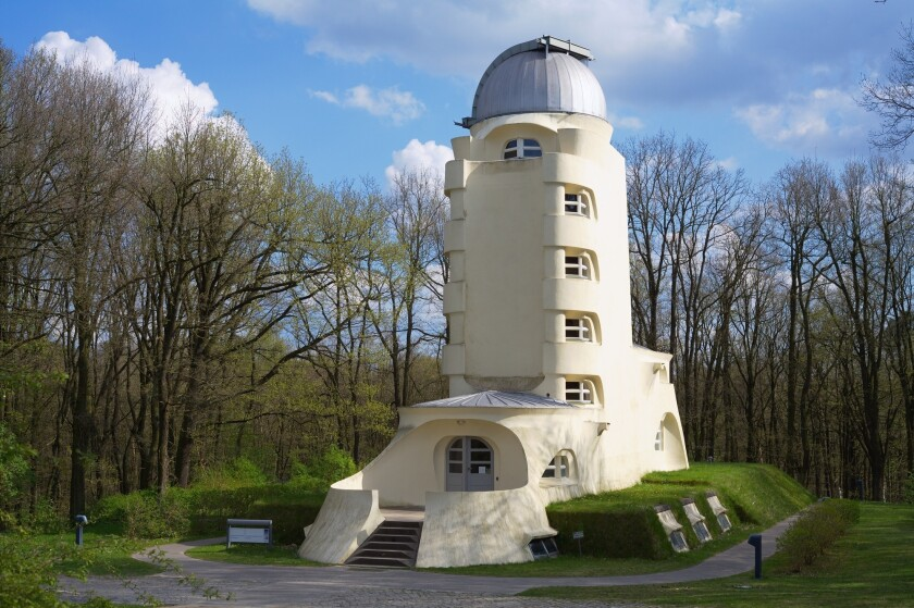 The Einstein Tower in Potsdam, Germany, is among the structures that will benefit from a Getty Foundation Keeping It Modern conservation grant.