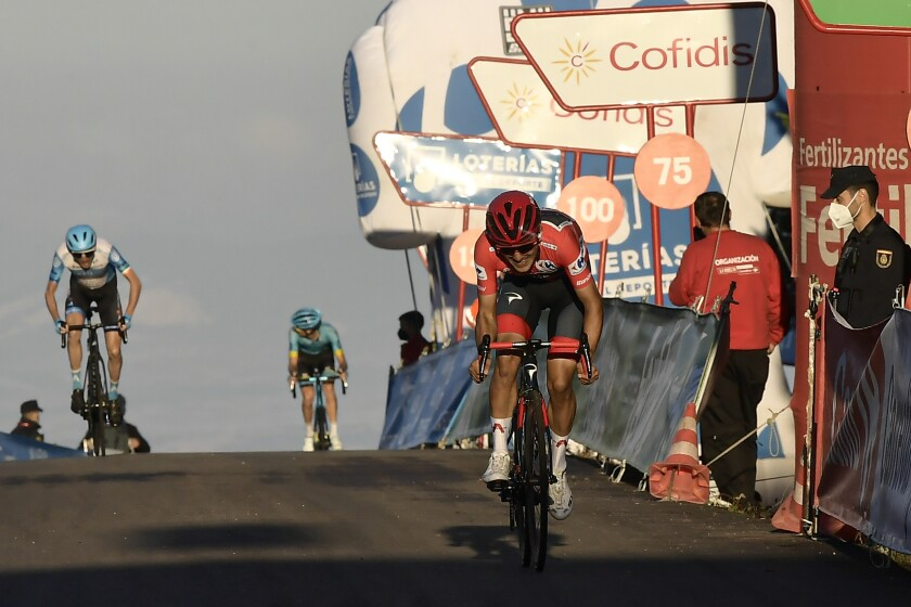 El ecuatoriano Richard Carapaz, líder general de la Vuelta a España