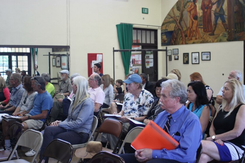 Concerned citizens turn out for the La Jolla Traffic & Transportation April 20 meeting, many for the speed limit increase discussion.