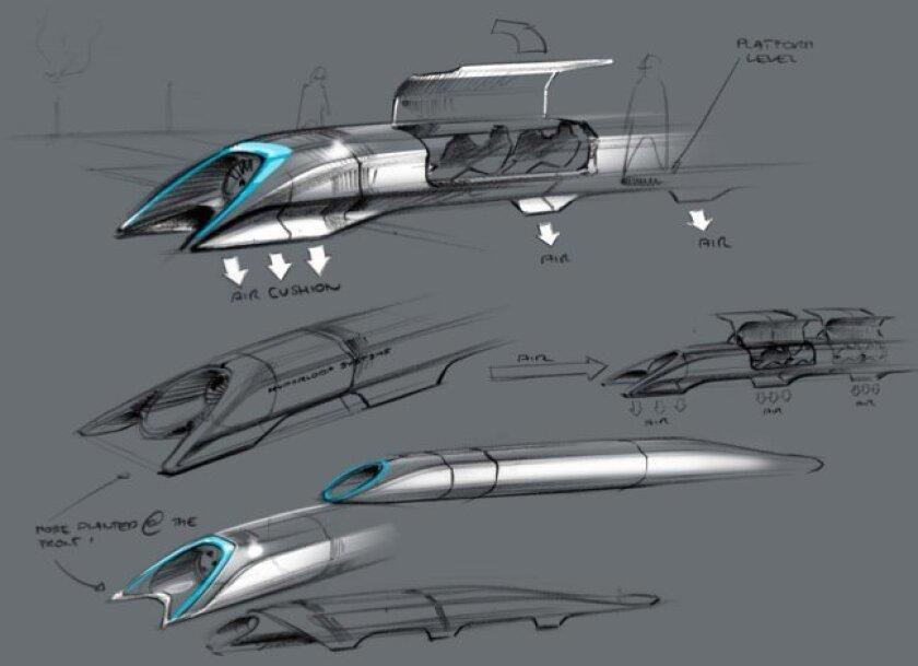 Elon Musk's Hyperloop pod system.