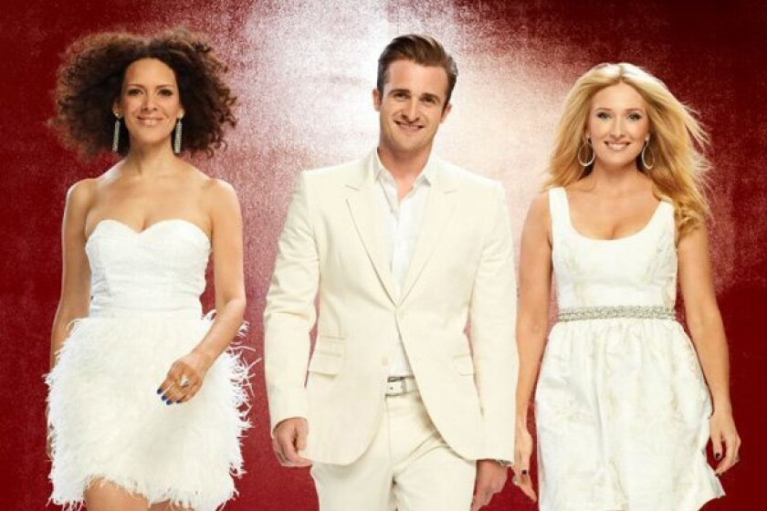 """""""Ready for Love"""" expert matchmakers, including Matthew Hussey in the middle."""
