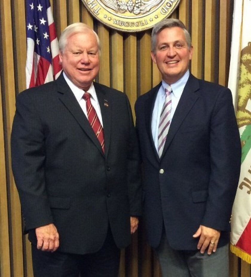 County Board of Supervisors Chairman Bill Horn and Vice Chairman Dave Roberts.