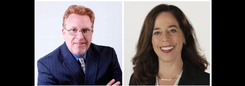 Challenger Cory Briggs and incumbent Mara Elliott are running for San Diego city attorney.