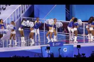 Rams male cheerleaders