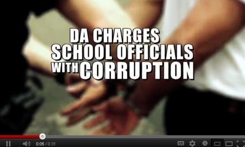 """Image from District Attorney Bonnie Dumanis ad, touting her corruption prosecutions and saying, """"When was the last time you saw the other guys do that?"""""""
