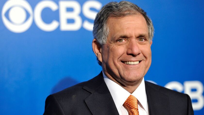 Leslie Moonves, president and chief executive of CBS Corp., attends the CBS network upfront presentation in 2012. He remains among the highest-paid executives in corporate America.
