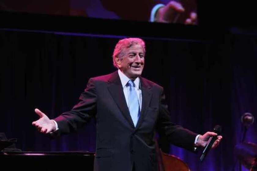 Tony Bennett performs at the Exploring the Arts gala in October in New York City.