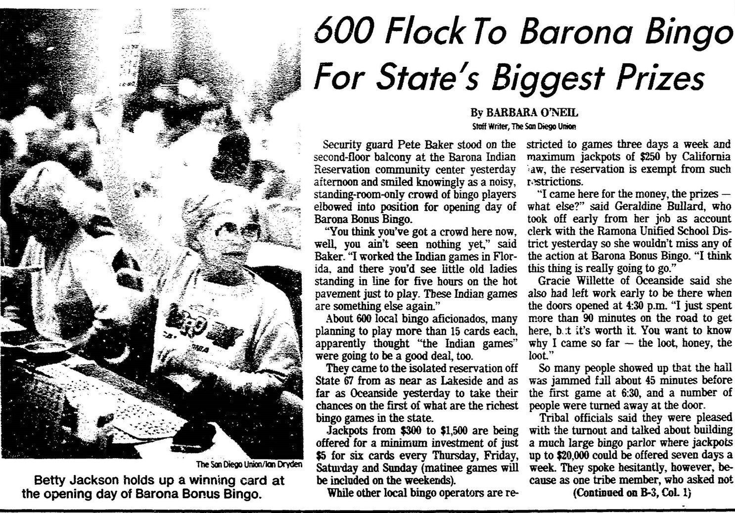 From the Archives: Bingo! Barona forged a path with first
