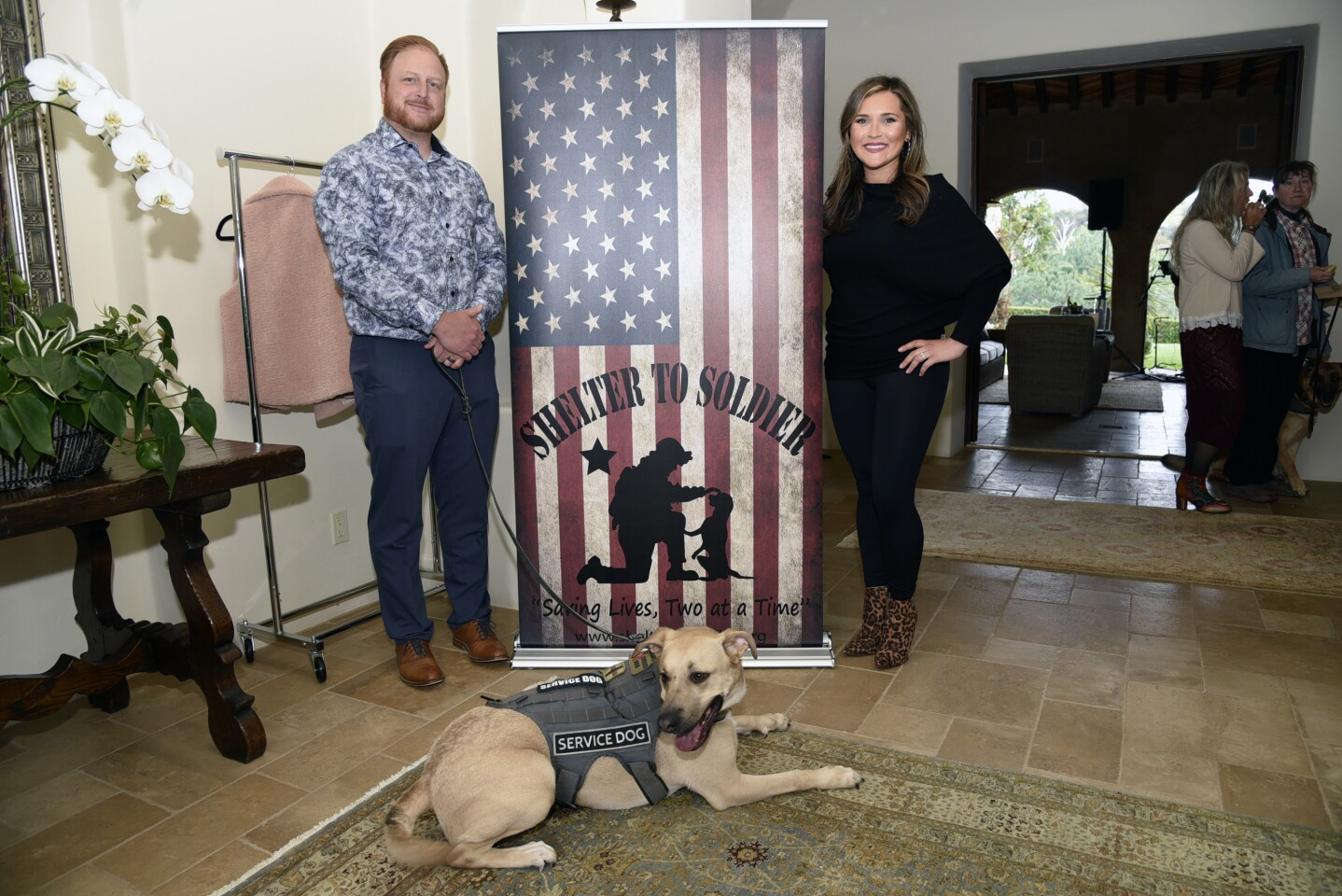 Shelter to Soldier co-founders Graham and Kyrie Bloem with Marlow