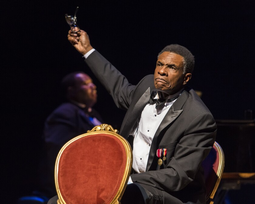 "Keith David in ""Paul Robeson"" at Ebony Repertory Theatre"