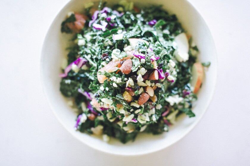 Organic kale salad from Flower Child Del Mar (Courtesy photo)