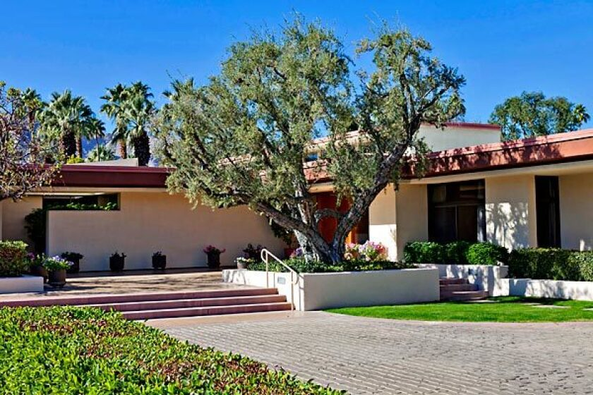 The desert house of former President Gerald Ford in Rancho Mirage.