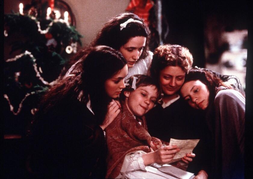 "Winona Ryder, clockwise from bottom left, Trini Alvarado, Susan Sarandon, Claire Danes and Kirsten Dunst in 1994's ""Little Women."""