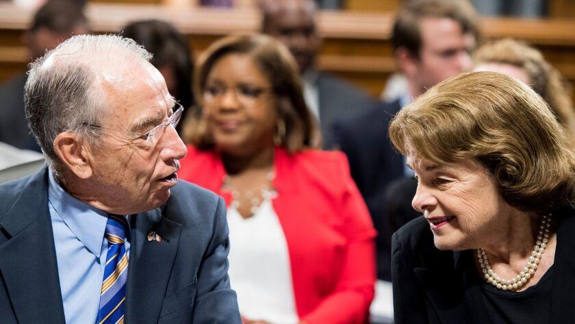 Sen. Chuck Grassley and Sen. Dianne Feinstein