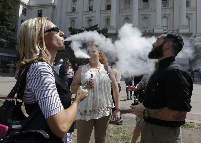 California and the nation have responded dramatically to vaping while failing to move against other flavored vices popular with youth such as menthol cigarettes and alcoholic beverages.
