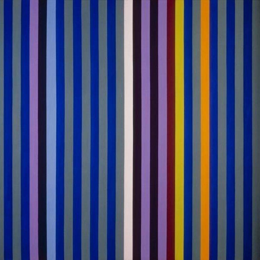 """Gene Davis' """"Blue Sound,"""" shown as part of exhibit """"Intervals"""" at Scott White Contemporary Art."""