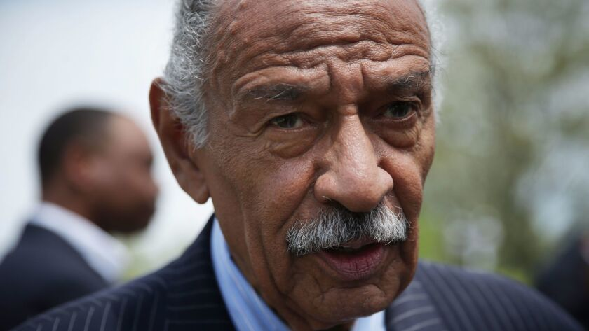 "FILE: Rep. John Conyers Steps Down From Judiciary Committee During Probe of Sexual harassment Claims Rep.Conyers Holds News Conference On The ""End Racial Profiling Act"""