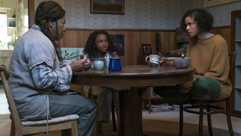 """(L-R)- Lorraine Toussaint, Saniyya Sidney and Gugu Mbatha-Raw in a scene from """"FAST COLOR."""" Credit:"""
