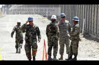 Trump quiere que las fuerzas armadas aseguren la frontera con México