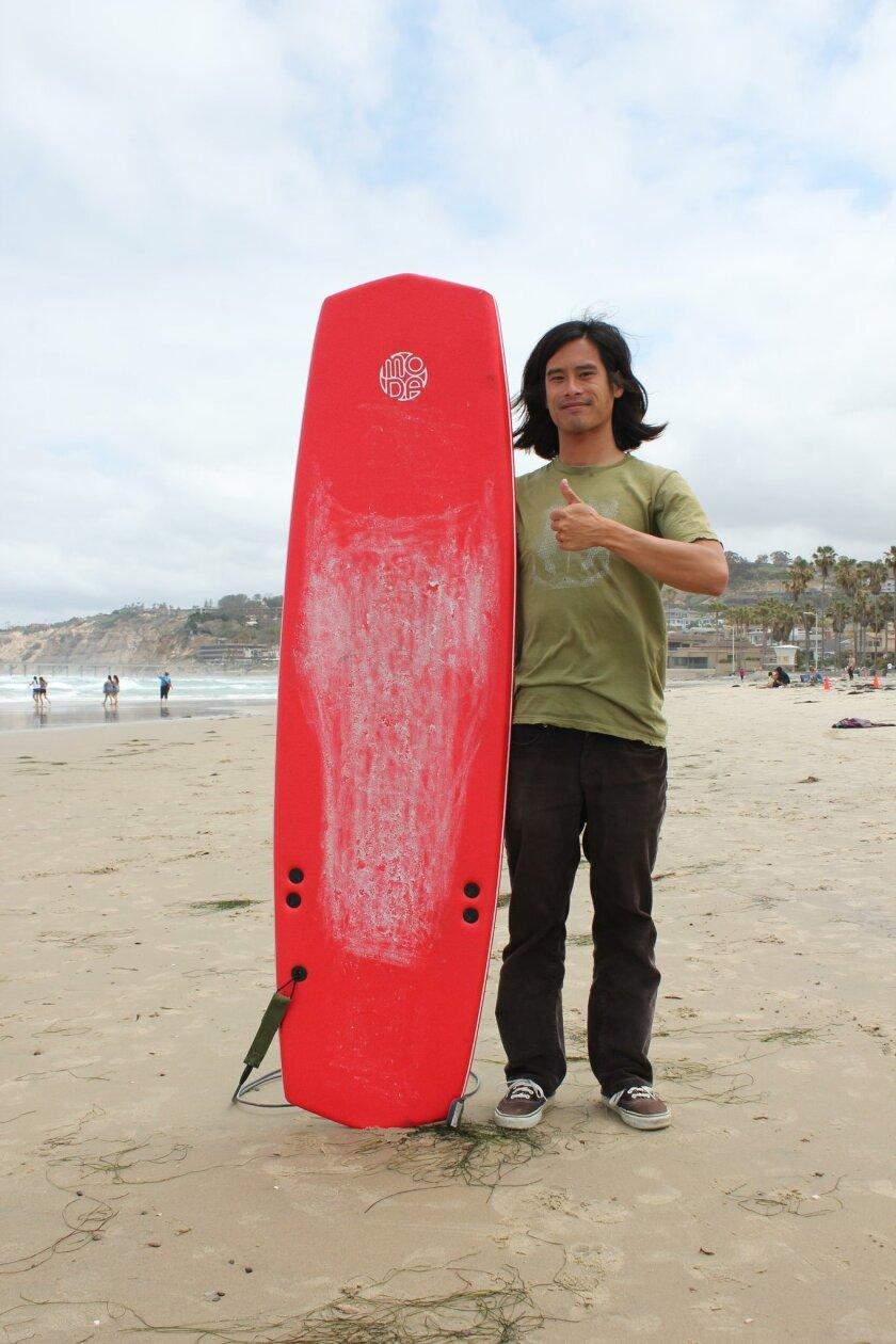 Surfboard entrepreneur Brenton Woo, founded Moda with his flexible surfboards