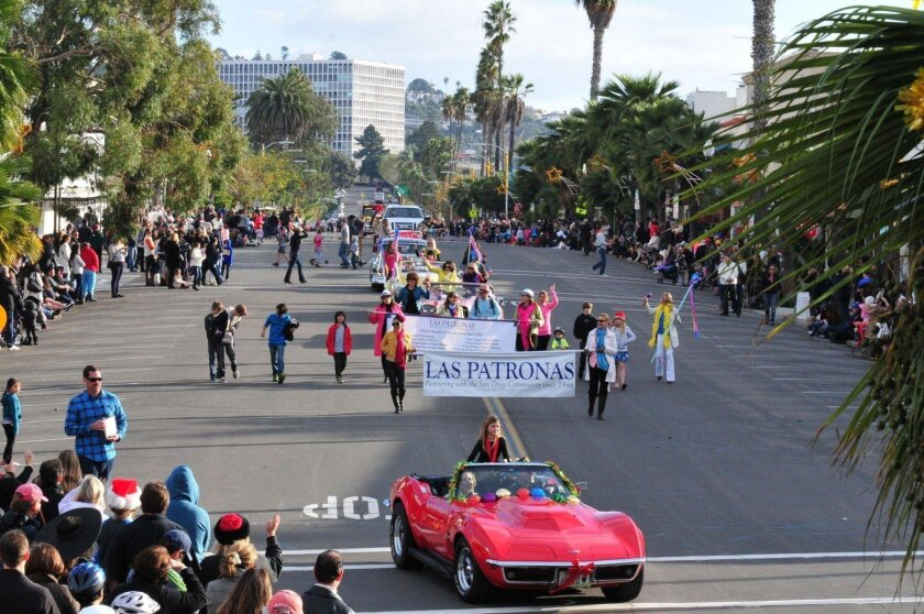 The La Jolla Christmas Parade will march down Girard Avenue begininng 1:30 p.m. Dec. 6, followed by a Holiday Festival at the Rec Center.