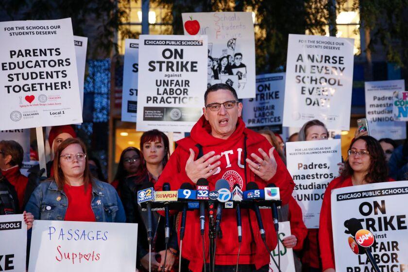 Chicago teachers' strike.