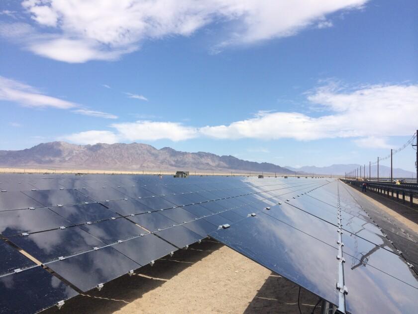 The Desert Sunlight solar farm in Riverside County.