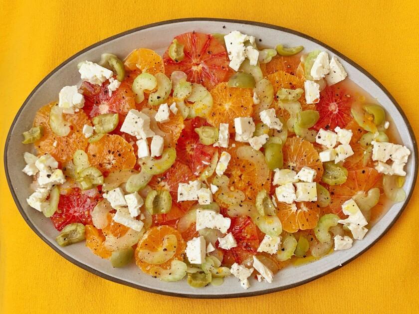 Cold and salty orange salad
