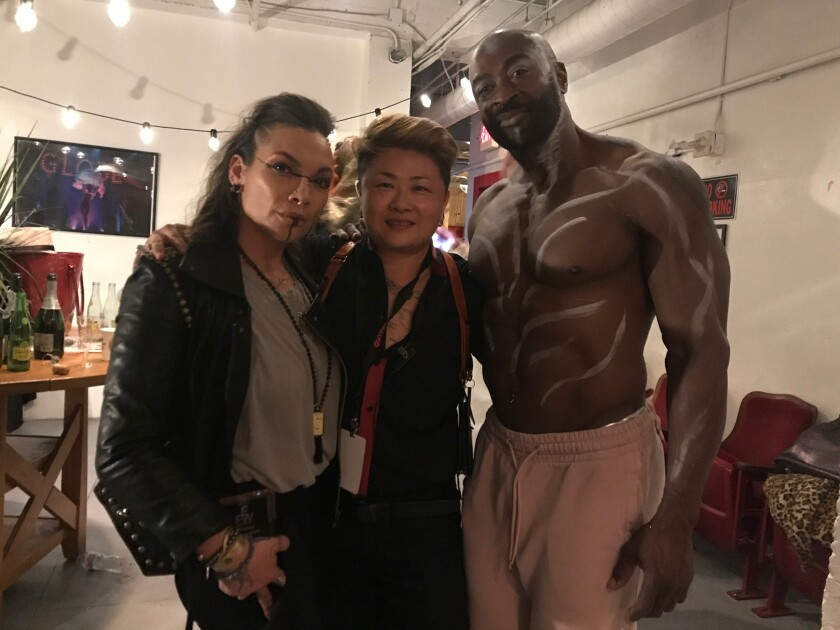Gingi Medina, from left, Nik Kacy and BlackManWhiteBaby at Unity: Equality Fashion Week.