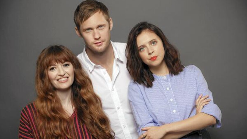 "Marielle Heller, left, directed Alexander Skarsgard as 35-year-old Monroe and Bel Powley as 15-year-old Minnie in ""The Diary of a Teenage Girl."""