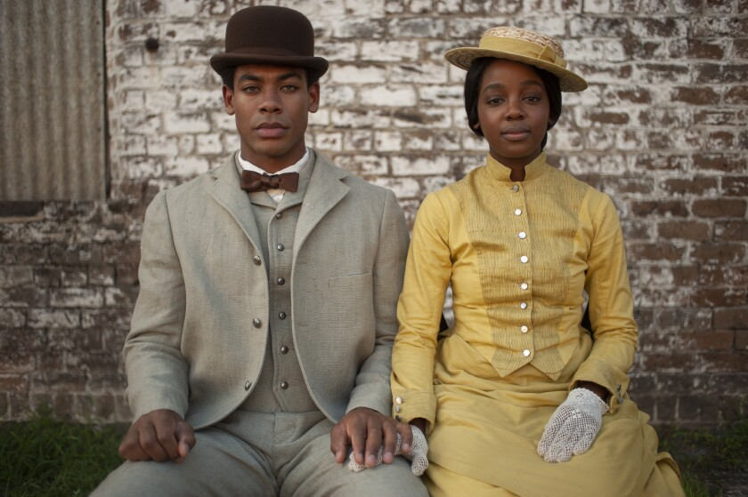 """Aaron Pierre and Thuso Mbedu in """"The Underground Railroad."""""""