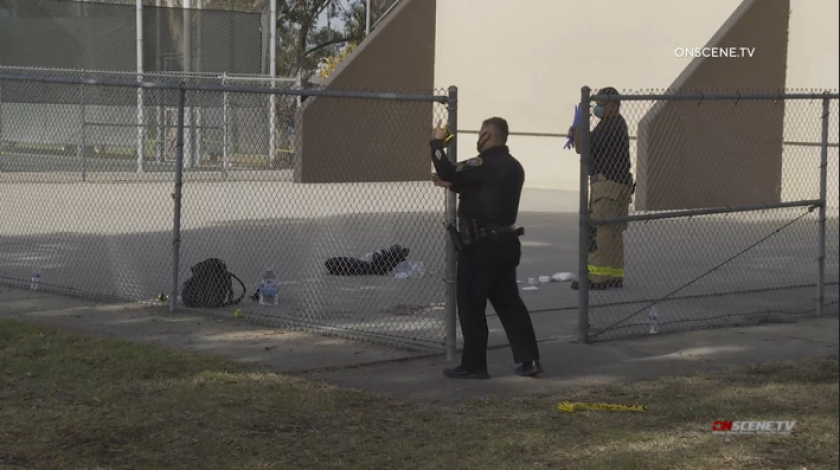 San Diego police investigated a double shooting near the Linda Vista Recreation Center on Sunday.