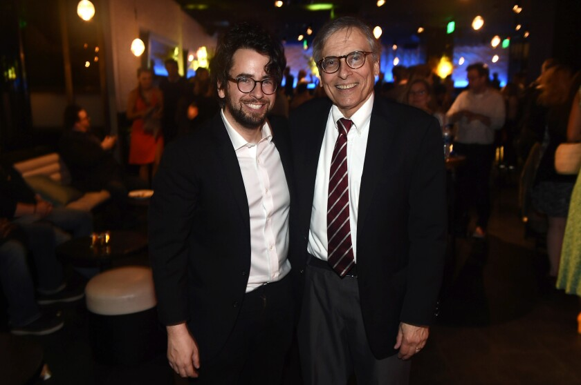 Playwright Michael Mitnick and his father (Photo by Jordan Strauss)