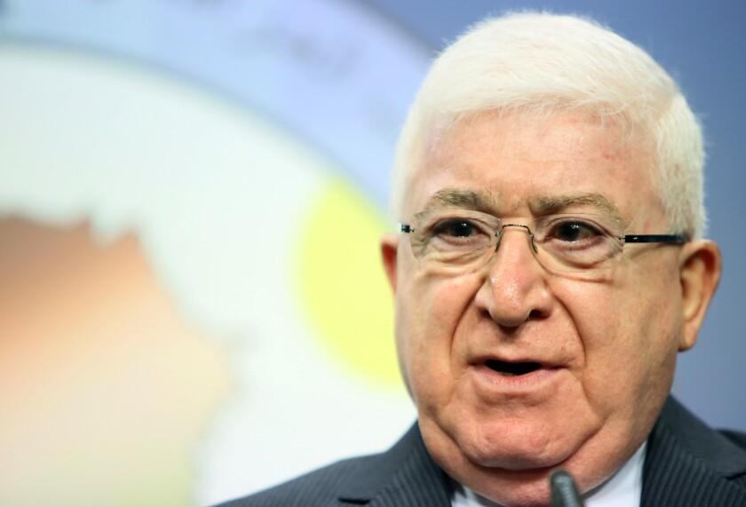 Iraqi President Fuad Massoum